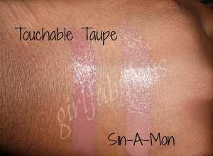 touchabletaupe and sinamon maybelline swatches