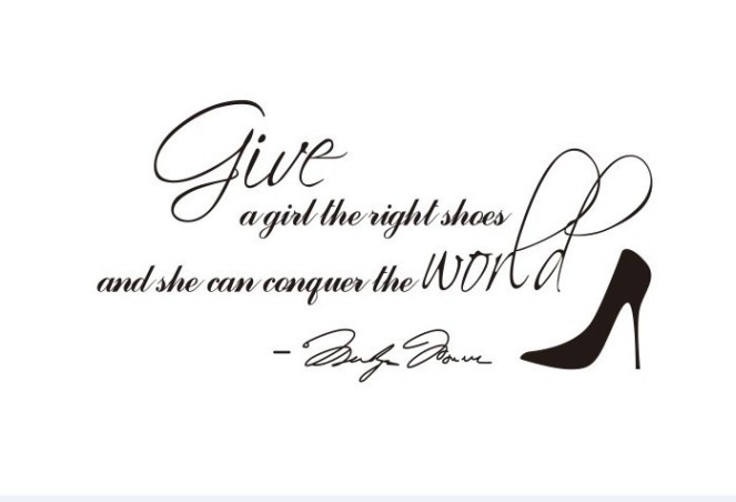 marilyn_monroe_give_a_girl_shoes_quote_wall_art